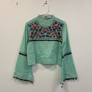 Chantik for anthropologie crop top